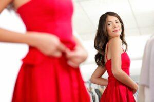 ثقة فستان جمال مرآة